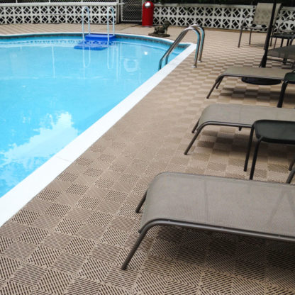 Free-Flow Beige Pool Deck